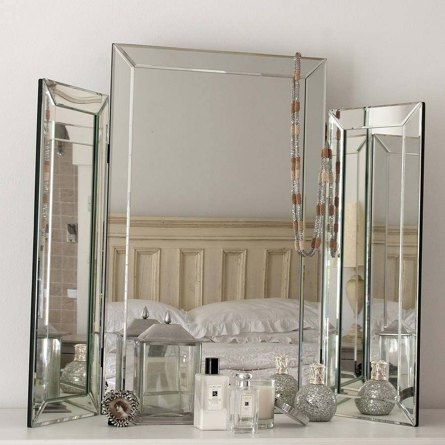 dressing table mirror large bevelled dressing table triple mirror VAFXUEG