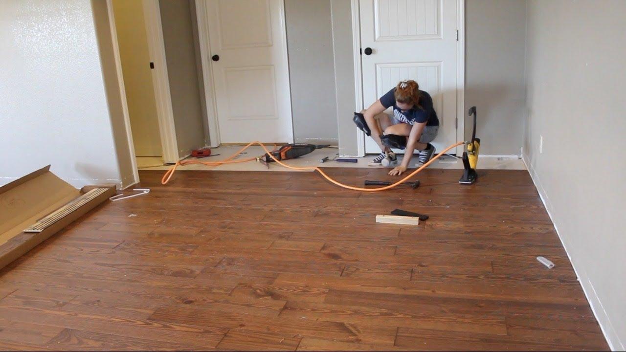 first time laying hardwood flooring RGZFEMH