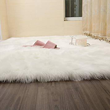 Fur rug amazon.com: wendana faux fur rug sheepskin area rugs silky shag rug fluffy UUNRUKZ