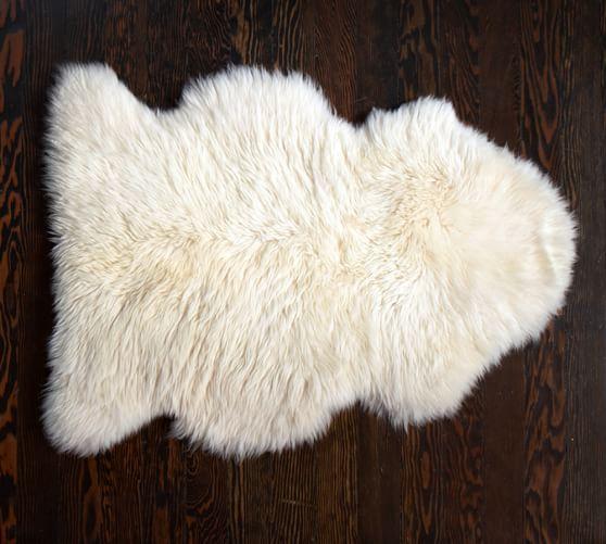 Fur rug sheepskin rug OCLYEUN