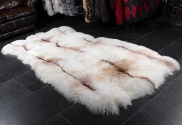Fur rug sun glo fox fur rug WSYUZRF