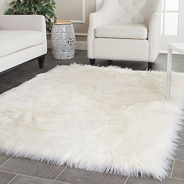 Fur rug white faux sheepskin blanket faux fur rug rugs and carpets for living room VRYXHXI