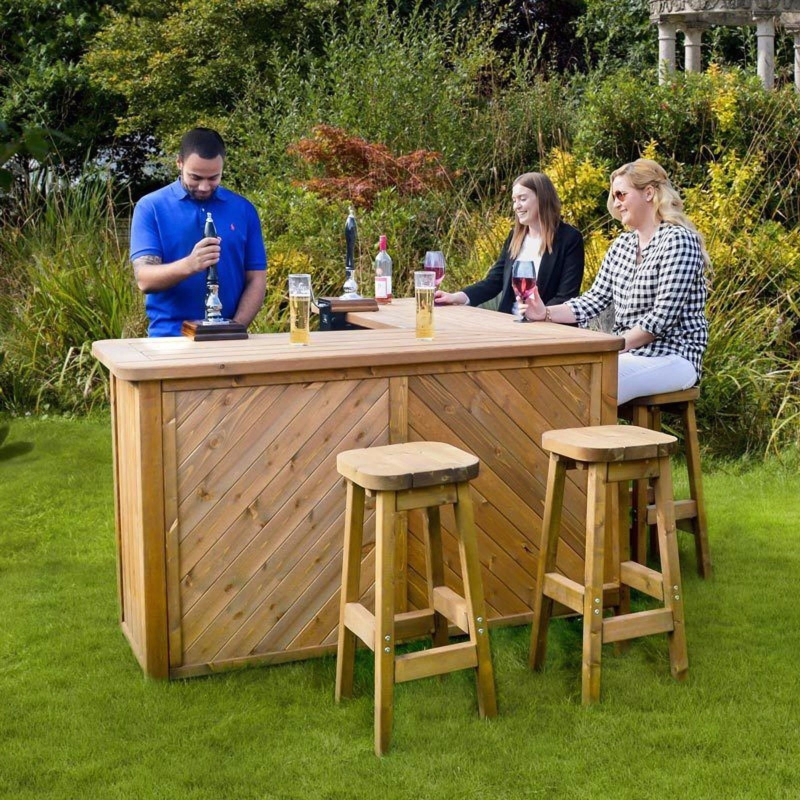 Garden bar garden bar set table stools outdoor seating patio dining dine outside home VXDHMNH
