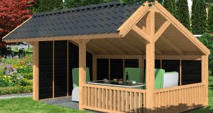 garden building larch apex building shown with optional roofing and black painted cladding  ... RNORURF