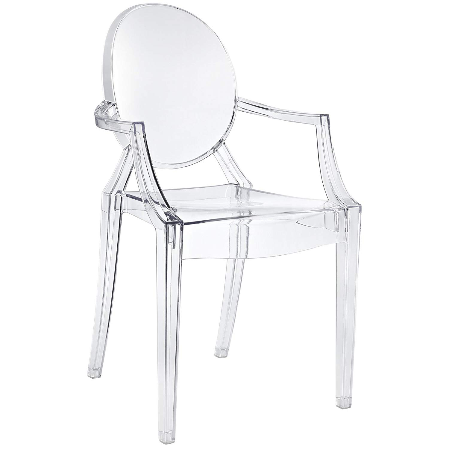 ghost chairs amazon.com - modway casper modern acrylic dining armchair in clear, 1 chair GVUMTBI