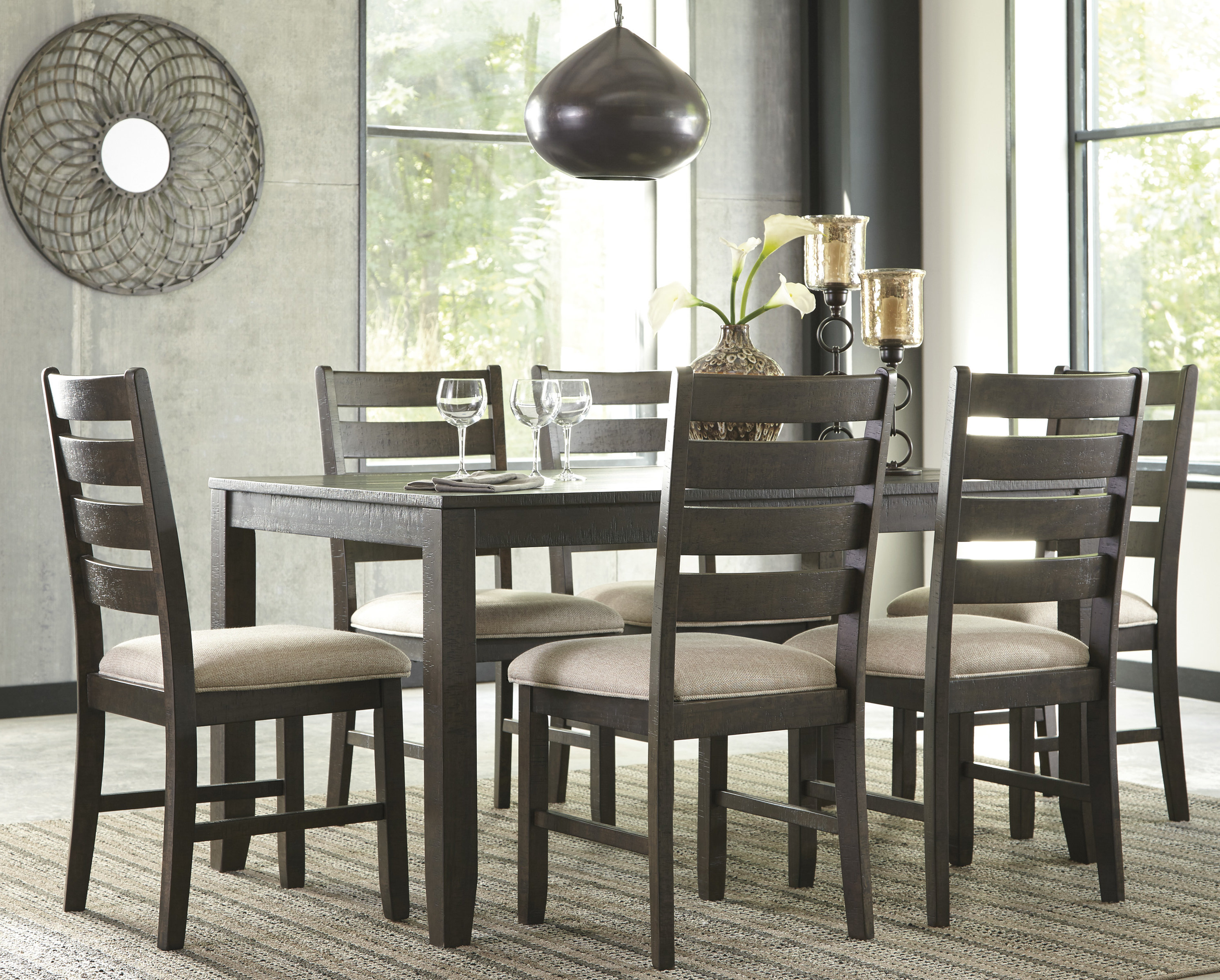 gracie oaks chapdelaine 7 piece dining set u0026 reviews | wayfair TMWXVLK