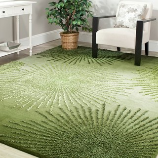 green rug safavieh handmade soho burst green new zealand wool rug - 5u0027 ... VHOIQAW
