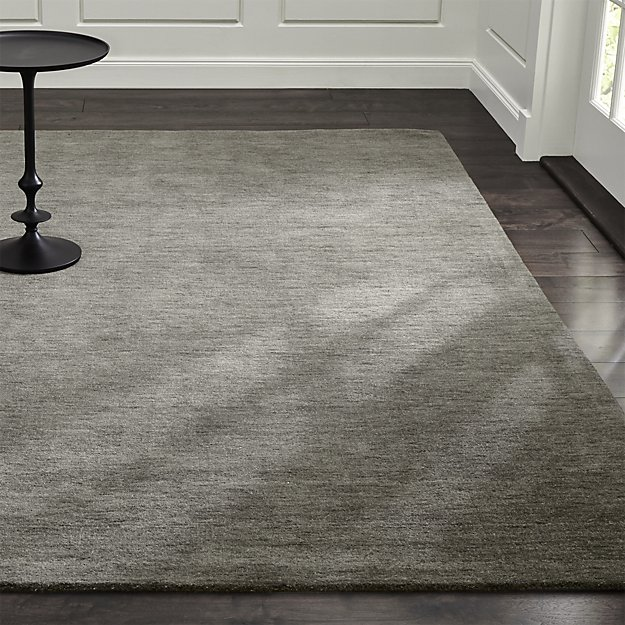 Grey rugs baxter grey wool rug | crate and barrel PFSRECH
