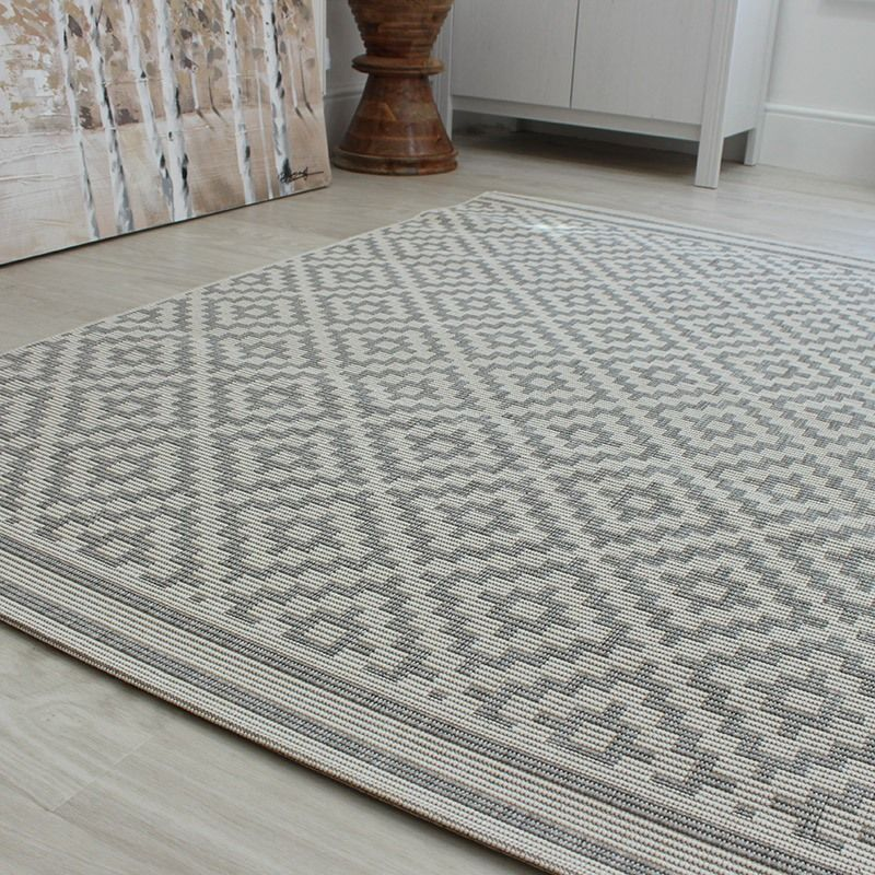 Grey rugs ideal for conservatories, kitchens and dining areas patio is a flat weave CKJQPHE