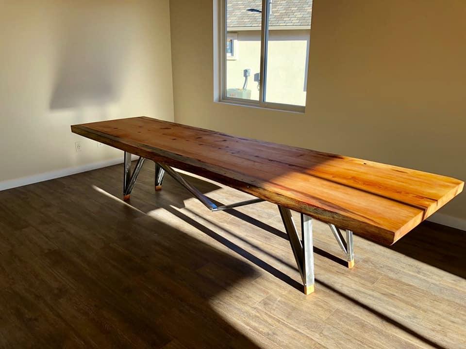 handmade furniture large slab tables. CEEGINS