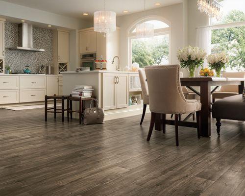 hardwood floor ideas mid-sized transitional open concept kitchen photos - mid-sized transitional  l-shaped TOOFSLT