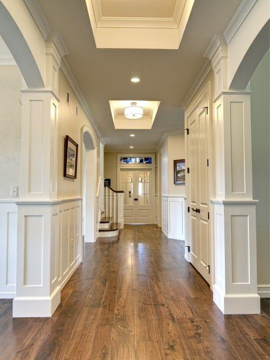 hardwood floor ideas walnut hardwood floors against white walls and doors - beautiful GFAUWJJ