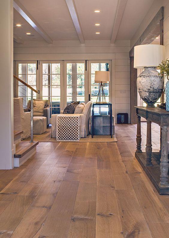hardwood floor ideas wide plank white oak hardwood floor for a living room CQGDGIH