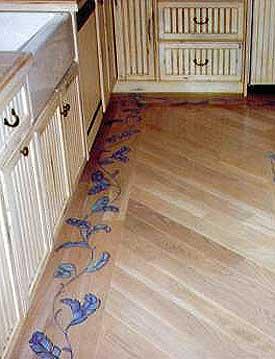 hardwood flooring designs ... stenciled wood floor border SJIPCBO