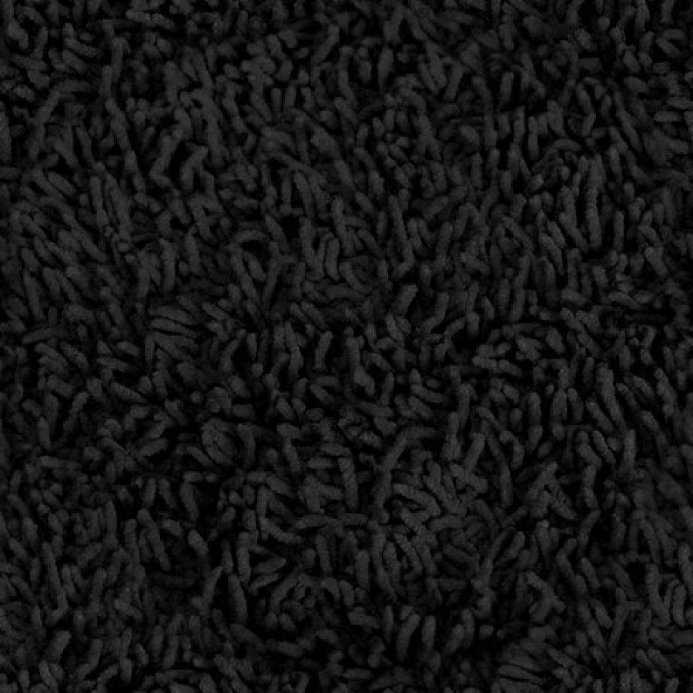 hereu0027s a thick shag black carpet. IRHJHLJ