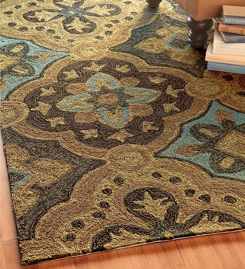 indoor outdoor carpets blue, tan and brown indoor-outdoor rug for dining room HKAWIEN