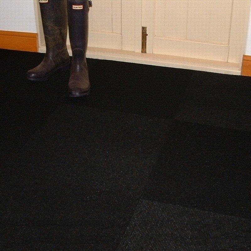jet black carpet tiles QSWTQRL