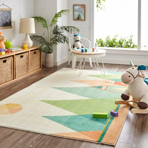 kids area rugs southwest teepee area rug, 5x8 BDUHEMK
