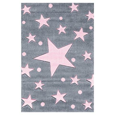 kids rugs kids rug happy rugs stars silver-gray/pink 200x300cm ... AWUGHHR