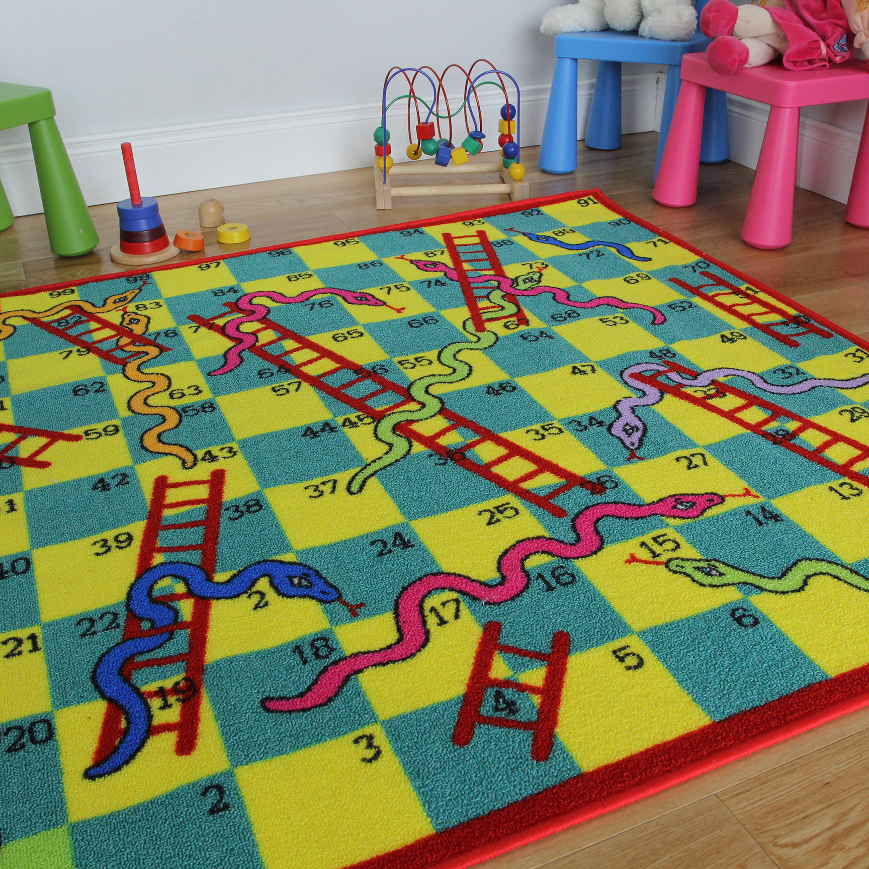 kids rugs ... snakes and ladders ff kids rug straight CYTKNBG