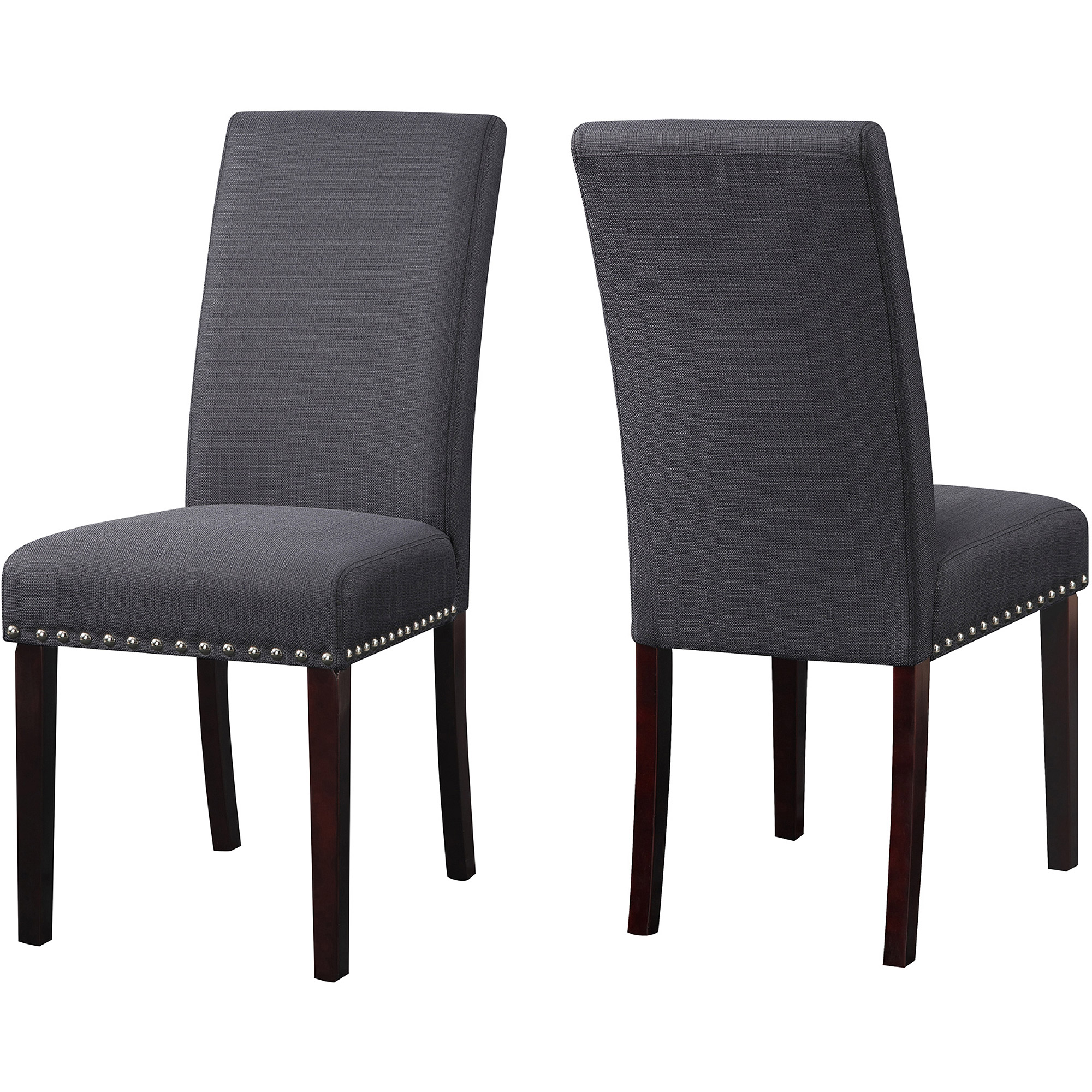 Kitchen Chairs dhi nice nail head upholstered dining chair, 2 pack, multiple colors - YTJMAUS