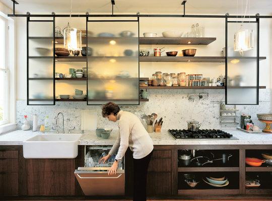Kitchen Shelving 4 smart ideas for kitchen racks design u0026 shelving LWYFXLW