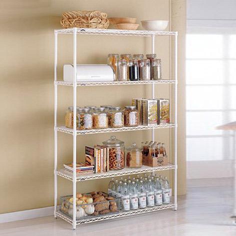 Kitchen Shelving metal kitchen shelves - intermetro kitchen shelves   the container store UJEVLCL
