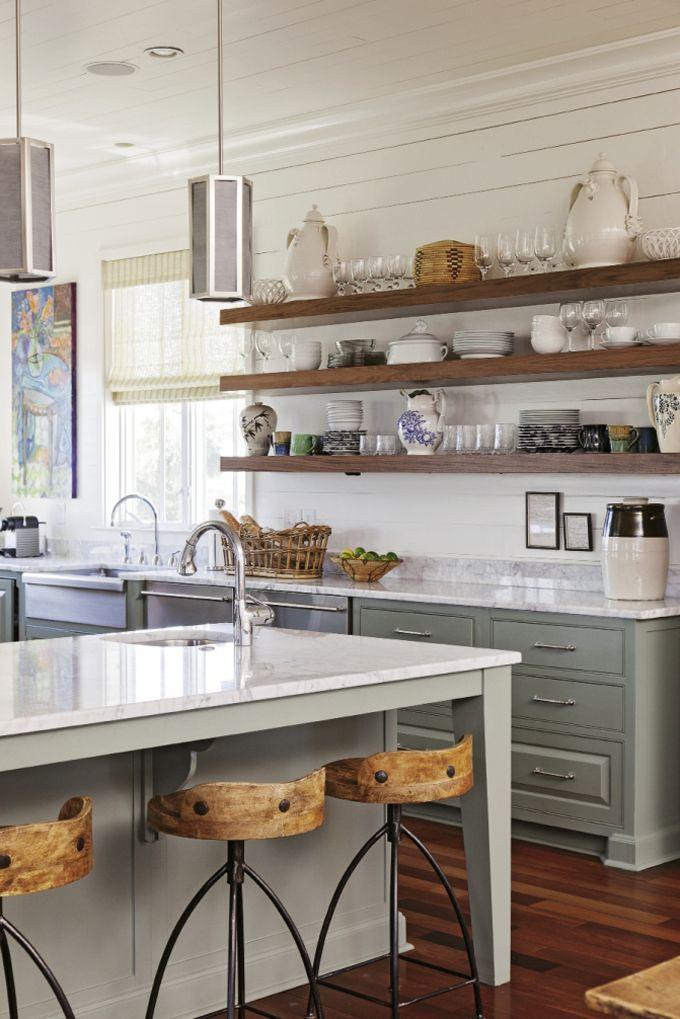 Kitchen Shelving open kitchen shelves farmhouse style VRGIUFP