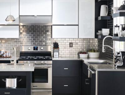 Kitchen Tile Ideas kitchen backsplash featuring industrial tile laid horizontally. RQALVKO