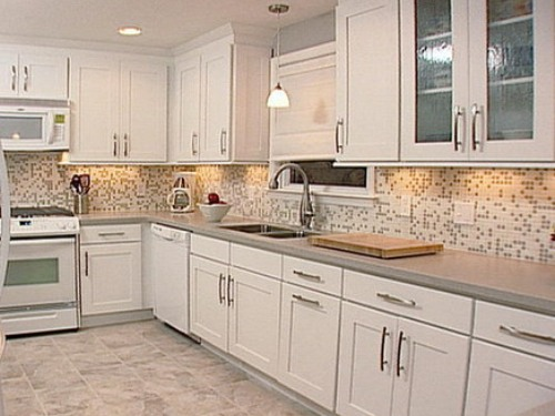 Kitchen Tile Ideas kitchen tile ideas with white cabinets GRNISNM