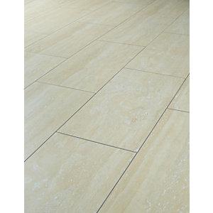 laminate floor tiles wickes travertine tile effect laminate flooring - 2.5m2 pack LOTPAKY
