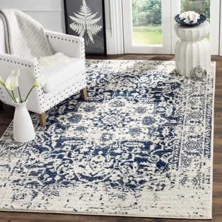 Large Area Rugs safavieh madison contemporary oriental cream/ navy area rug - 12u0027 x ... TCXDVMU