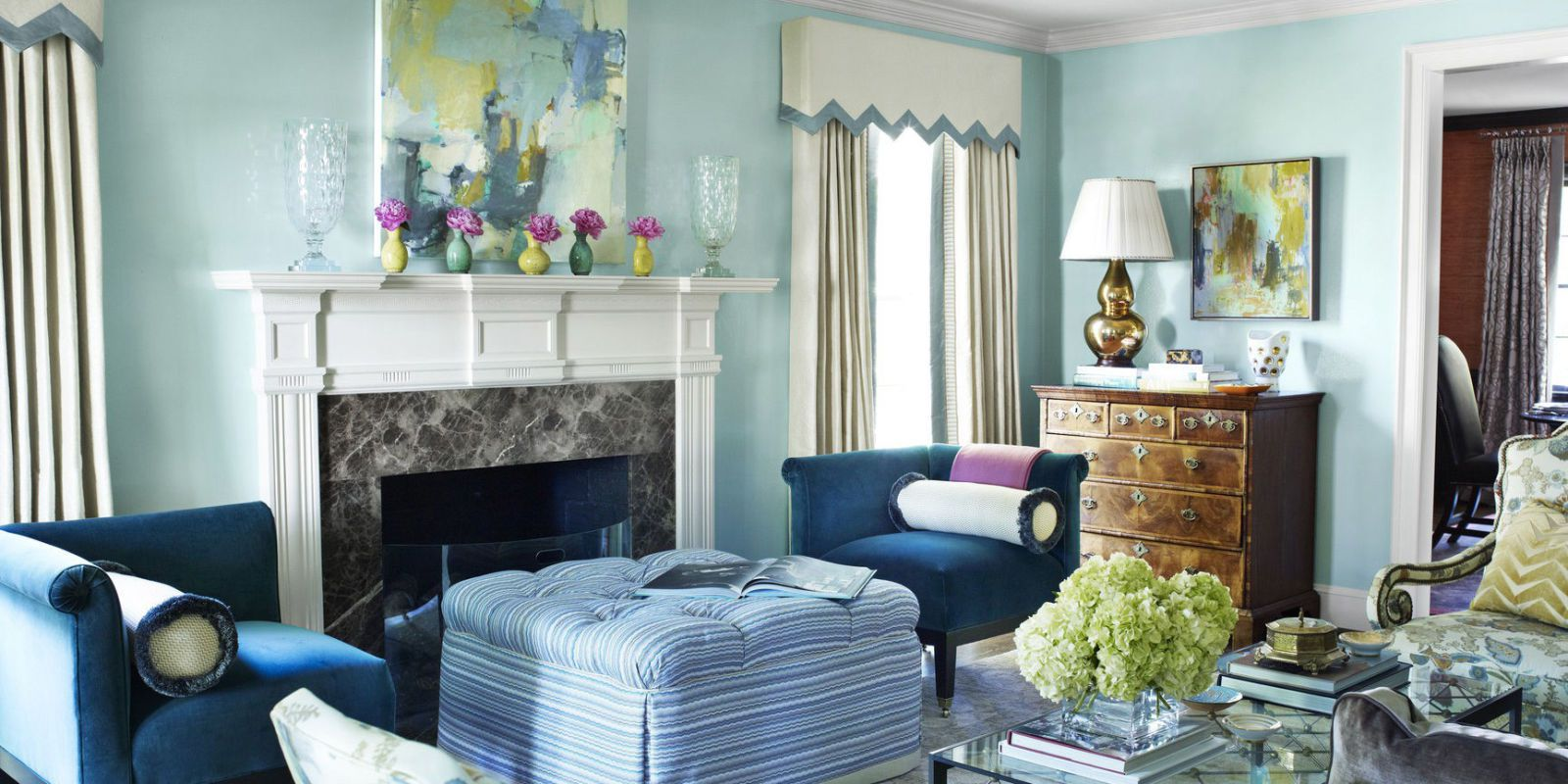 Living Room Colors the celestial airiness of walls lacquered in benjamin mooreu0027s antiguan sky  is QFOYADB