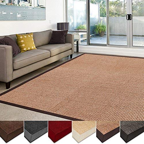 living room rug casa pura sisal rug | 100% natural fiber area rug | non-skid eco-friendly DJPHEHW