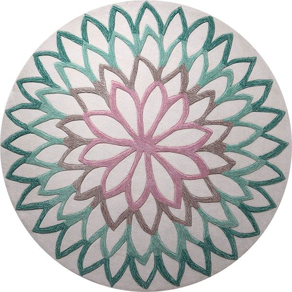 lotus flower circular rugs 4007 04 by esprit - free uk delivery - HSUJDOM