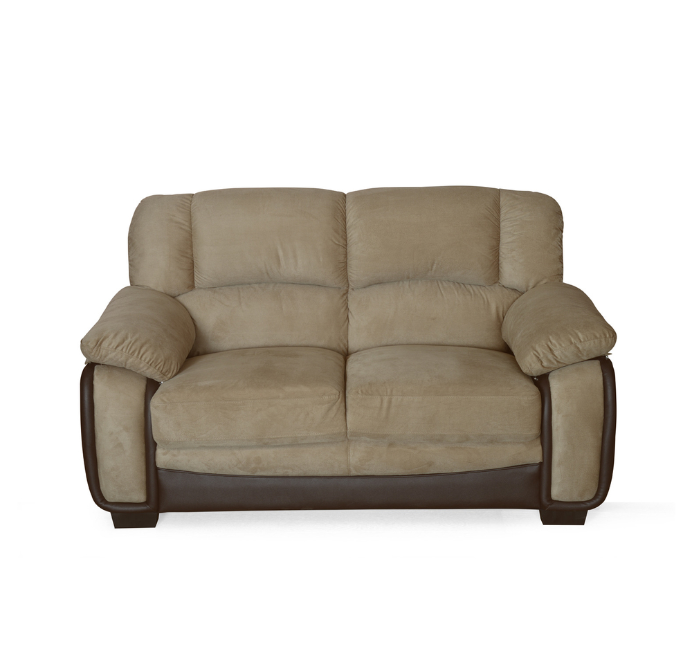 mimosa 2 seater sofa - @home by nilkamal, honey brown WCNEXST