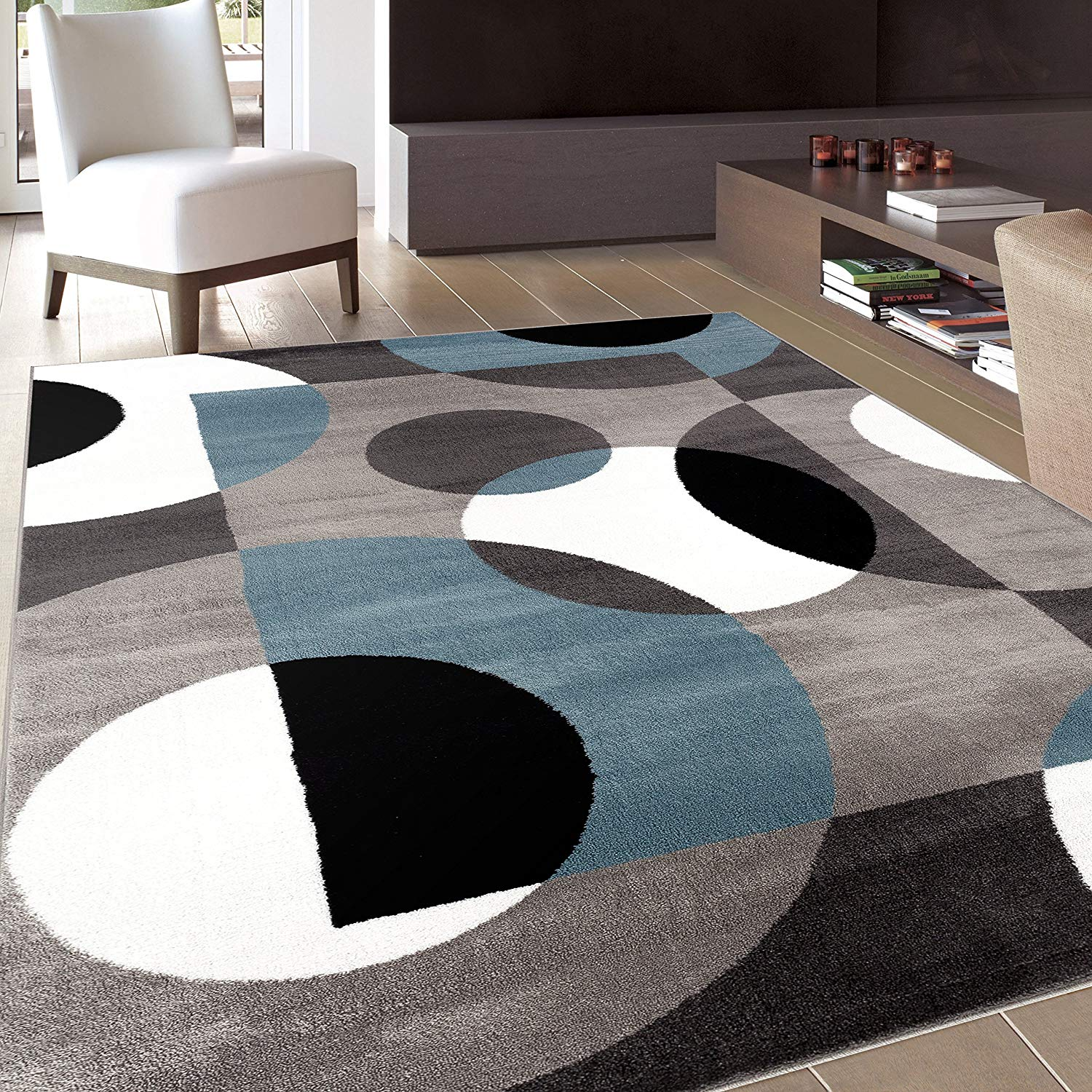 Decorate your space with modern area rugs
