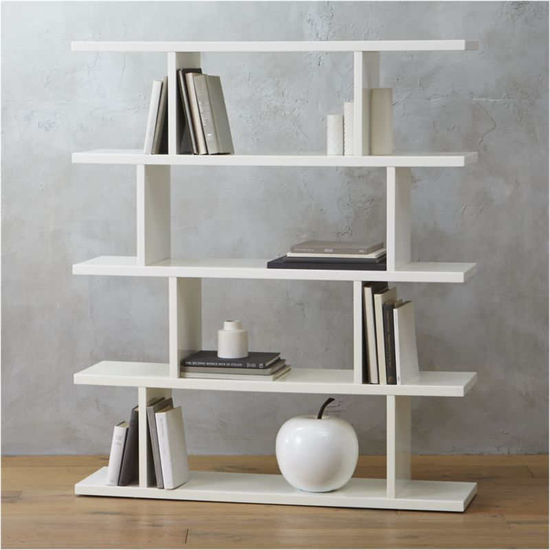 Modern Bookshelf 3.14 modern white bookcase + reviews | cb2 JGNDLAQ