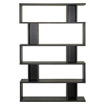 Modern Bookshelf goodwin 5 level modern bookshelf dark brown - baxton studio : target NRUSIYV