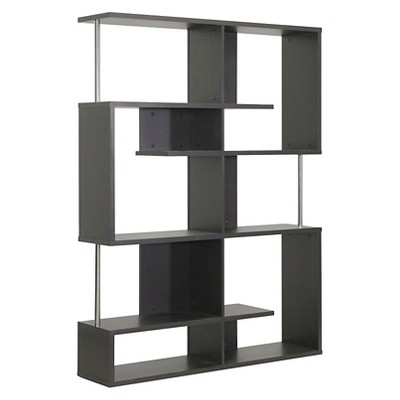 Modern Bookshelf kessler modern bookshelf tall height dark brown - baxton studio PVBXNVW