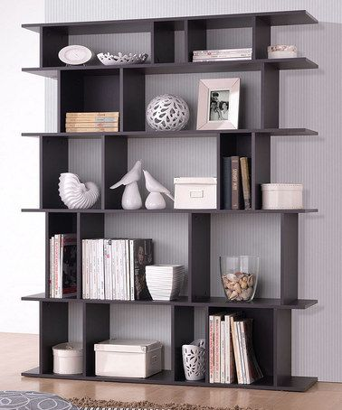 Modern Bookshelf love this dark brown tilson modern bookcase by baxton studio on #zulily! EXRTOOL