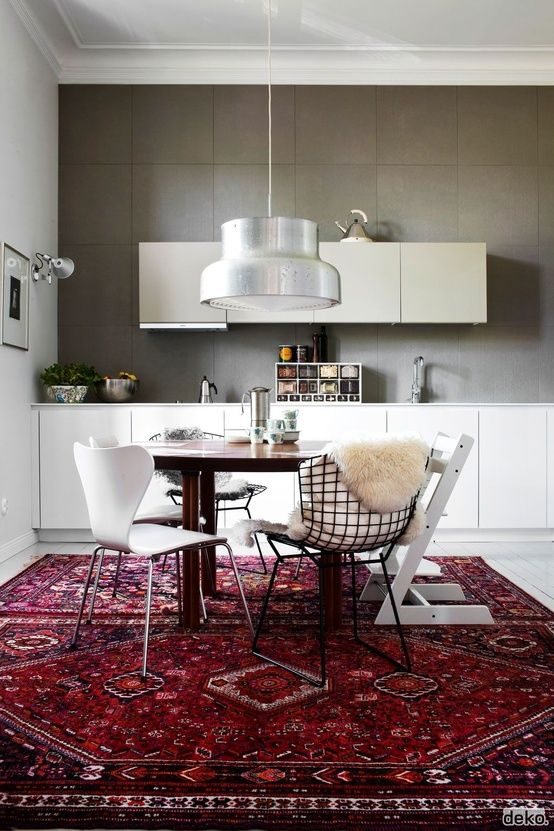 modern persian rugs 4 colorful rugs to incorporate in the dining room HSORFVQ