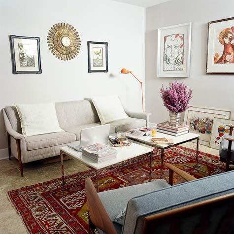modern persian rugs inspiration: oriental rugs in modern contexts | apartment therapy RVSWXVE