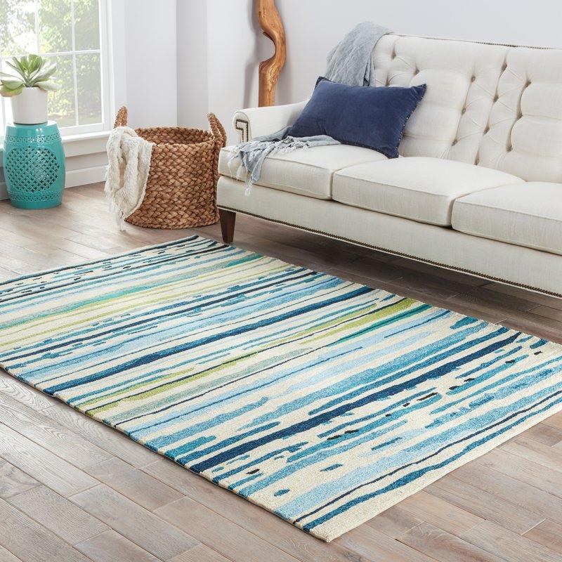 outdoor area rugs angelina hand-hooked polypropylene blue/green outdoor area rug CXWGIJE