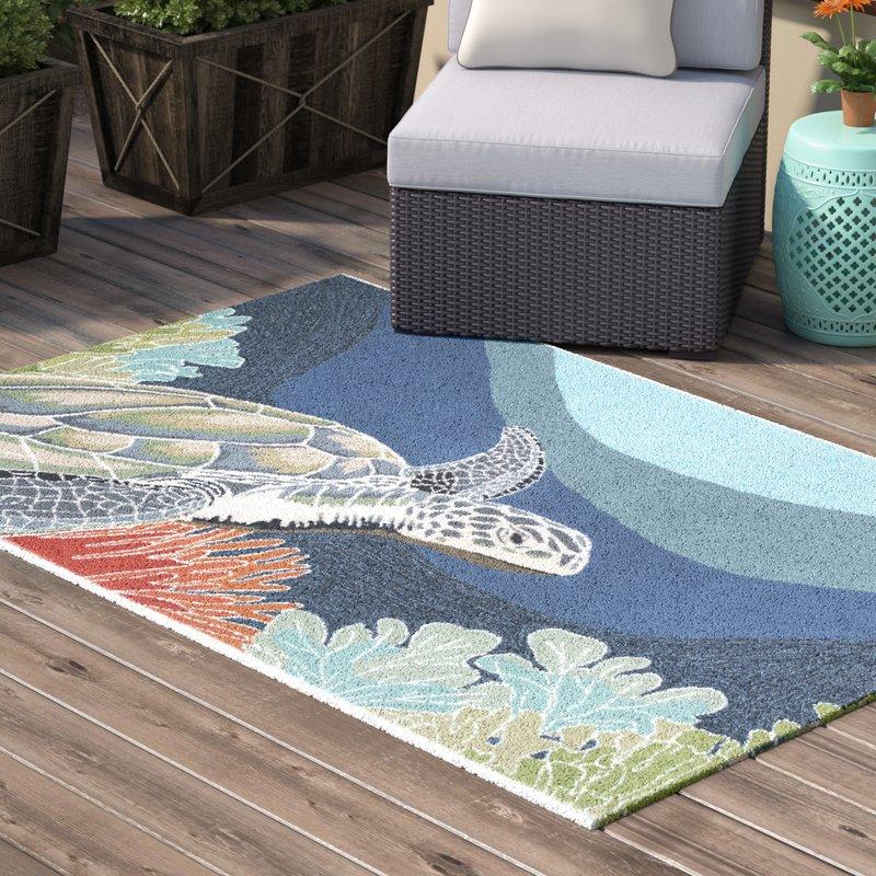 outdoor area rugs clowers akumal blue indoor/outdoor area rug FNSRONW