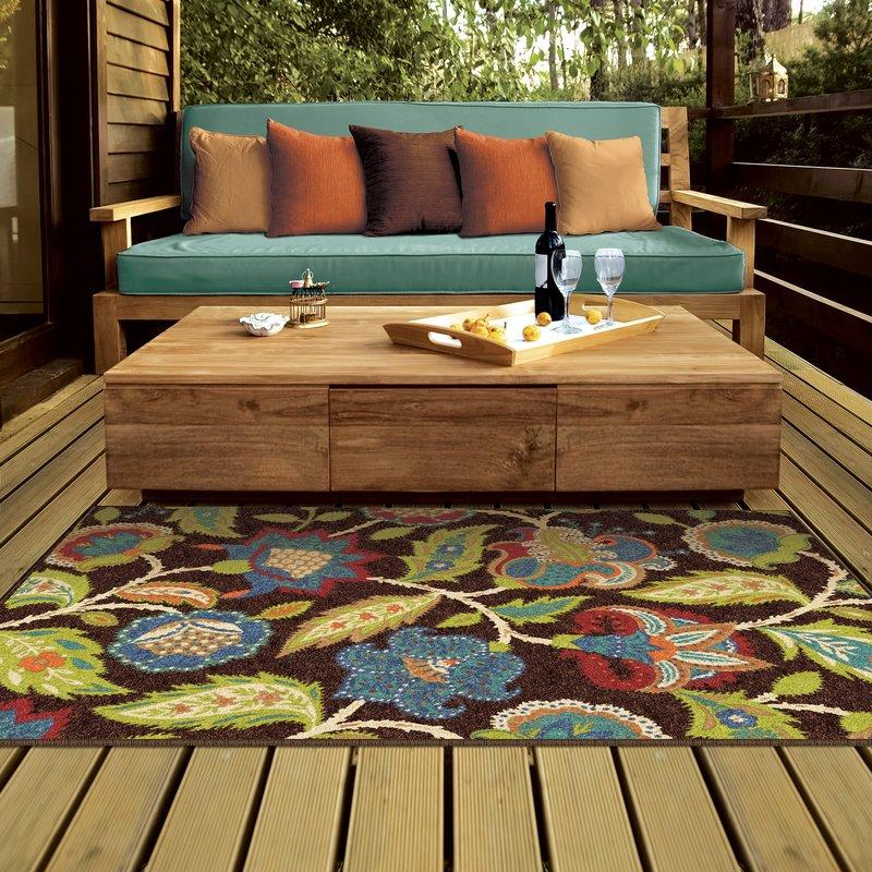 outdoor area rugs gilson brown indoor/outdoor area rug WKERJAL