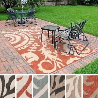 outdoor area rugs nina contemporary floral indoor/outdoor area rug (5u00273 x 7u00276 CTUDMVG