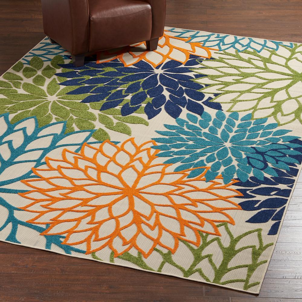 outdoor area rugs nourison aloha multicolor 8 ft. x 11 ft. indoor/outdoor area rug TMVGHZG