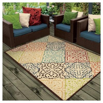 outdoor area rugs orian rugs walker promise indoor/outdoor area rug : target IVSYYDG