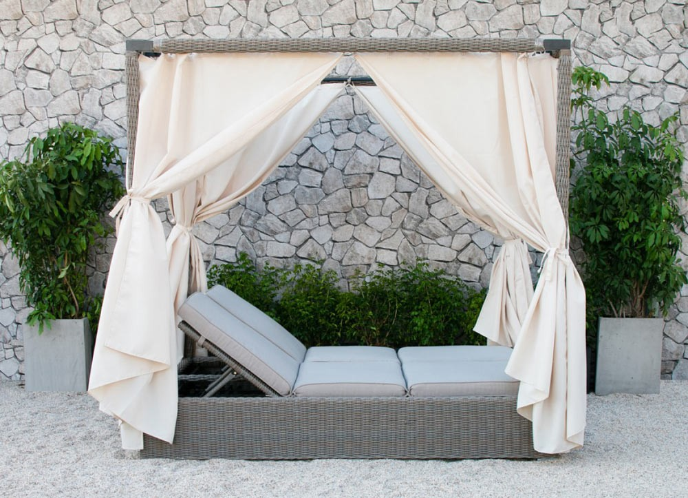 Outdoor Daybed cynthia outdoor daybed with canopy SLJWGGT